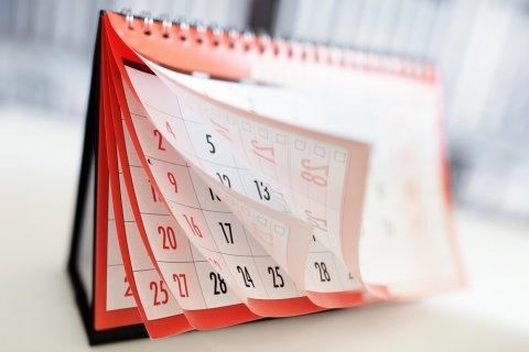 カレンダー 日付 スケジュール
