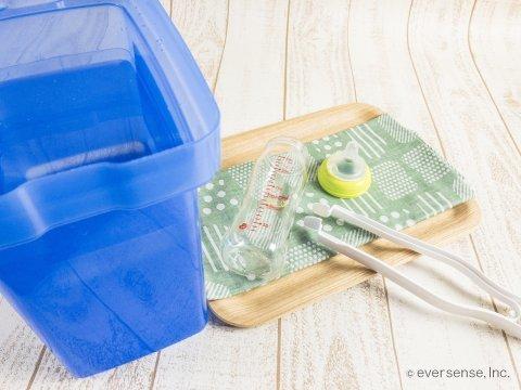 哺乳瓶 消毒容器 代用 イメージ