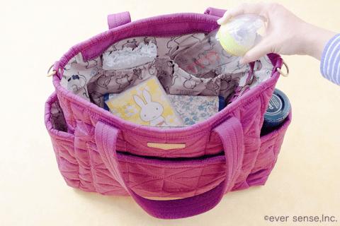 哺乳瓶 マザーズバッグ トートタイプ 中のイメージ
