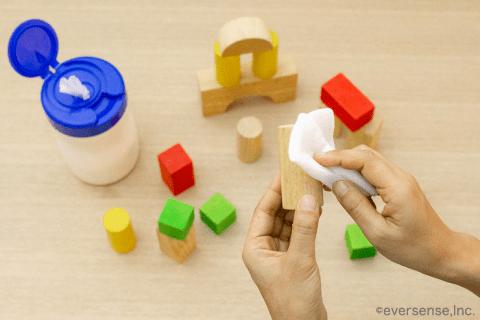 おもちゃ 消毒 シート