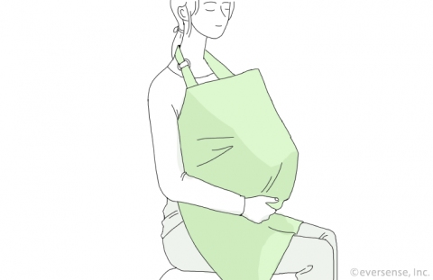 授乳ケープ エプロン型 イラスト