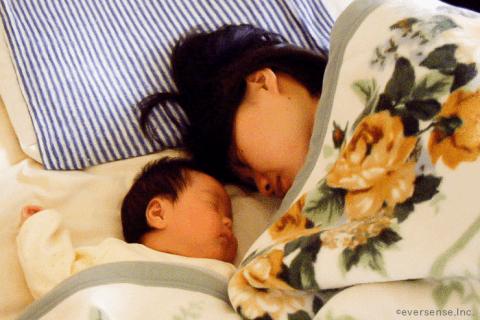 赤ちゃん ママ寝込む