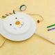 おもちゃ 手作り でんでん太鼓 紙皿 割り箸