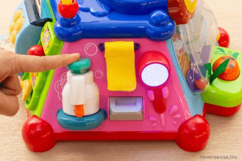 1歳 知育玩具 たのしく知育! やみつきボックス 洗面所