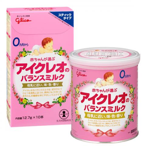 要出典 粉ミルク グリコ アイクレオのバランスミルク