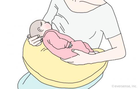 授乳クッション 使い方 イラスト1