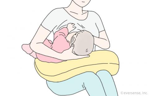 授乳クッション 使い方 イラスト3