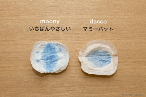 母乳パッド 吸水性実験 結果2