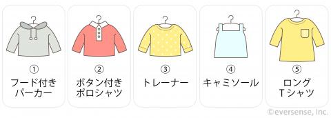 保育園の服 トップス