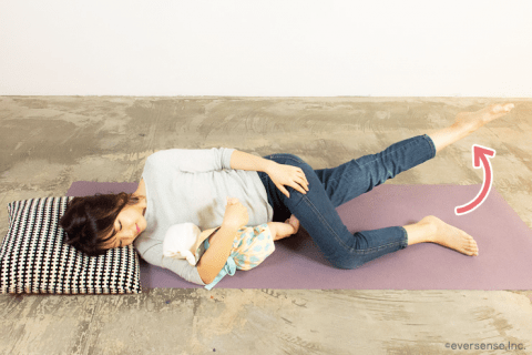 添い寝しながら内転筋を鍛える 産後 骨盤矯正