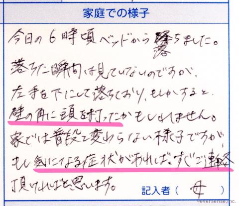 連絡帳実例12