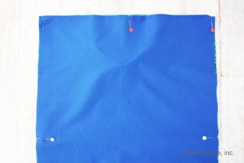 入園グッズ 手作り 袋を作る1