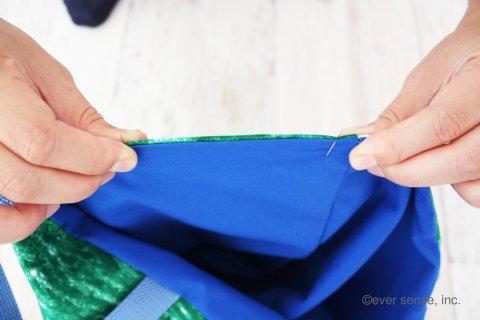 入園グッズ 手作り 通園バッグ ぐるっと縫い