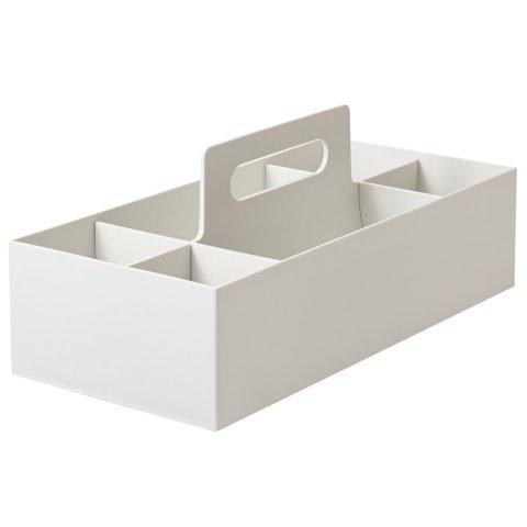 要出典 ベビー用品 収納 無印 ポリプロピレン収納キャリーボックス・ワイド・ホワイトグレー