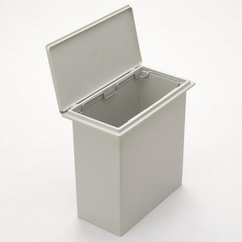 要出典 無印良品 おむつ 収納 ゴミ箱 ポリプロピレンフタが選べるダストボックス・小 2