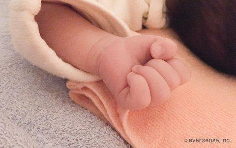 赤ちゃん,手,寝る