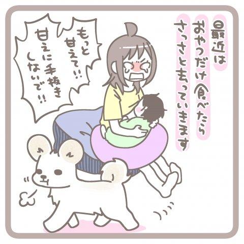 育児漫画 篁ヨーコ 犬と赤ちゃんのいる生活 2話