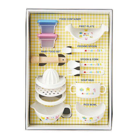 要出典 ママベスト 2021 離乳食調理セット ミキハウス テーブルウェアセット 食器セット