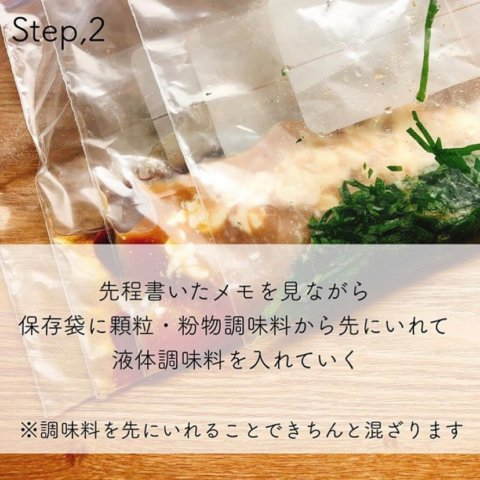 下味冷凍 レシピ 基本
