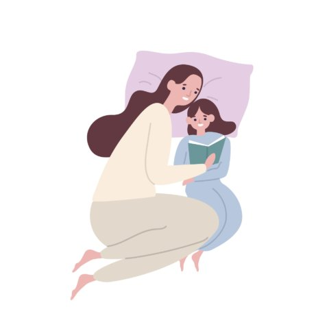 親子 女性 ママ 娘 イラスト