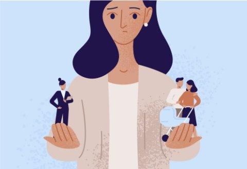 女性 選択 イラスト